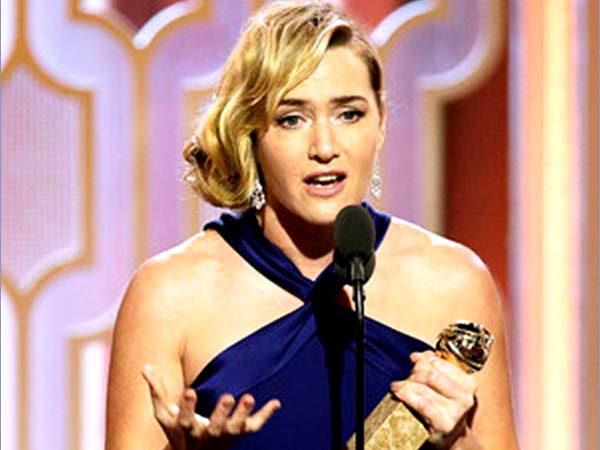 Kate Winslet, winner at the Golden Globe Awards 2016