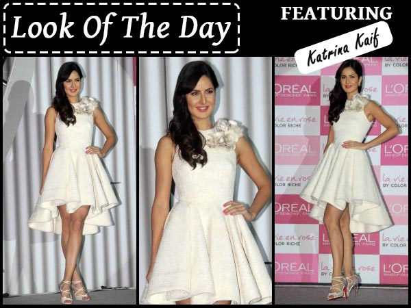 Katrina in beautiful white gown