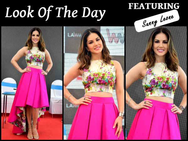 Sunny in beautiful outfit for Mastizaade