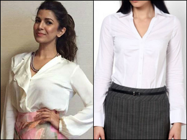 Nimrat Kaur wearing white shirt