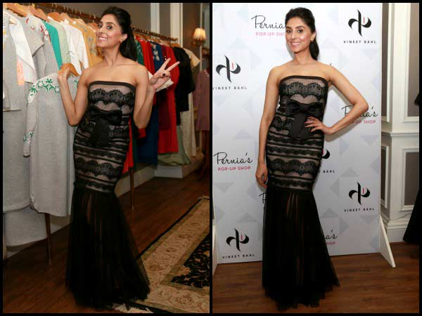 Pernia Qureshi at the launch of Wine & Cheese on PerniasPopUp shop
