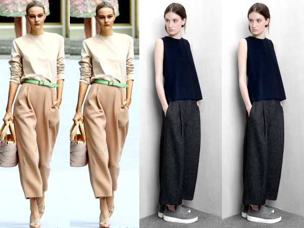 Wide-legged pants