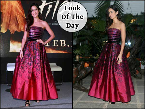 Katrina In Maroon Gown