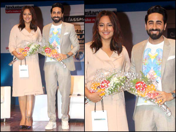 Ayushmann in printed tee
