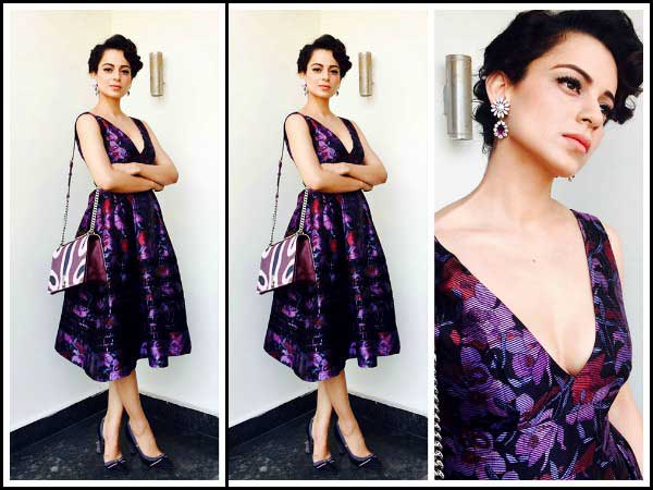 Kangana in purple dress