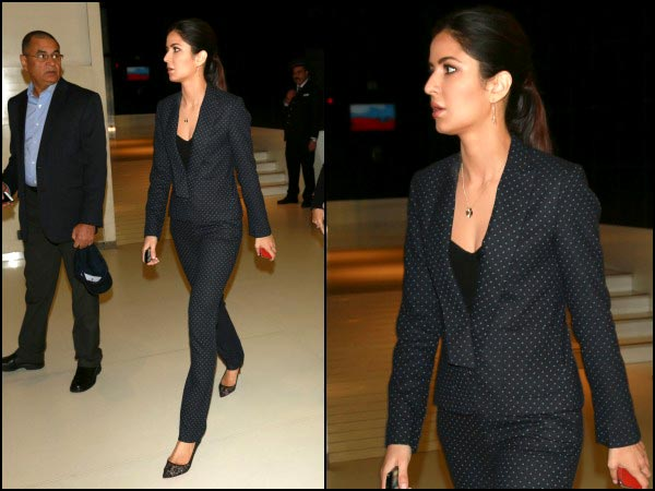 Katrina in a wonderful suit