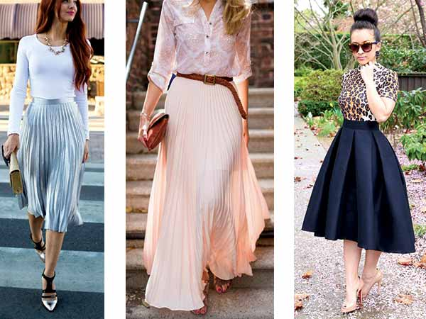 how to maximise the styling of your pleated skirts this