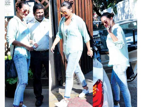 Sonakshi in her casuals