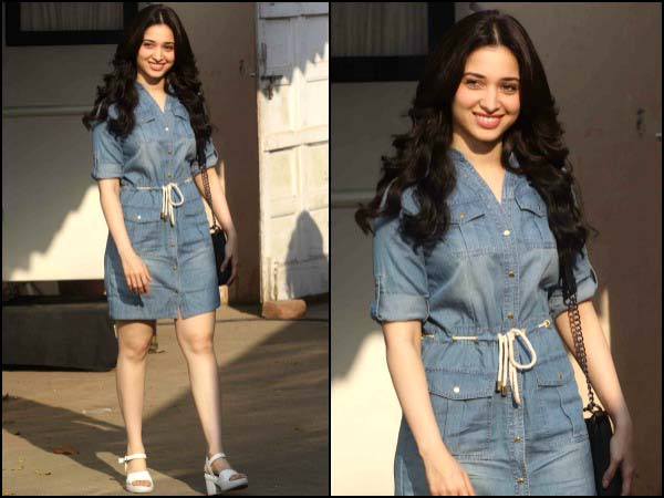 Tamannaah in denim dress