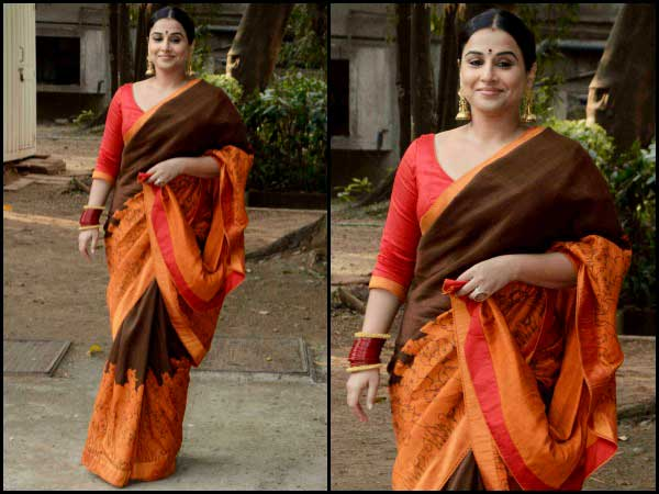 Vidya in cotton saree