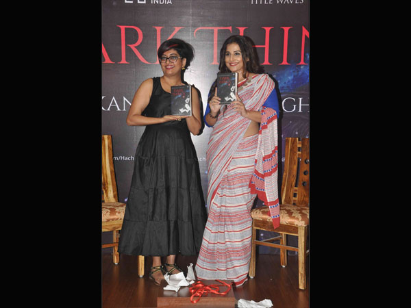 Vidya Balan at the launch of book dark things