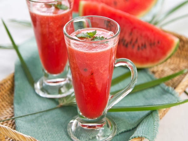 Watermelon And Strawberry Smoothie Recipe