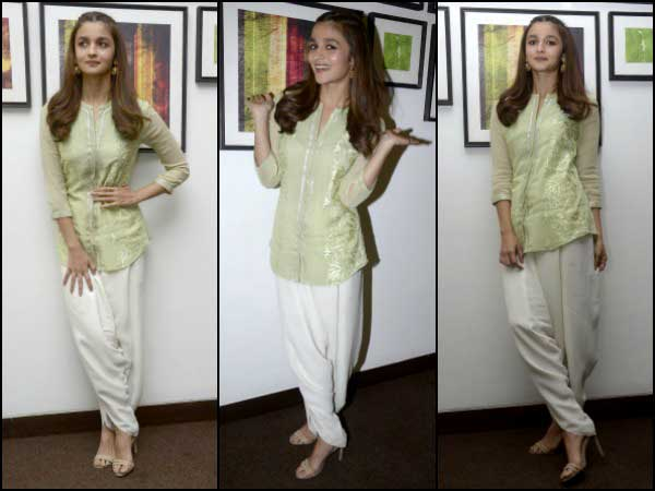 Alia Bhatt in green kurta