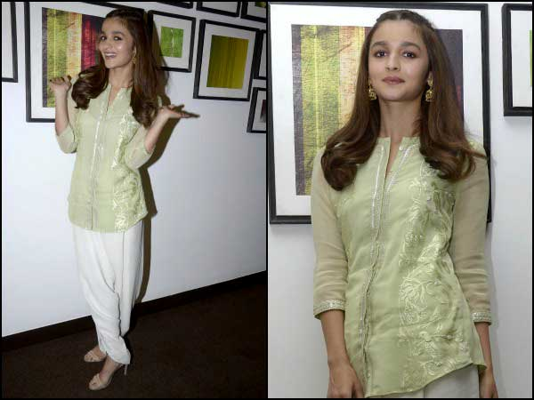 Alia Bhatt in white patiala