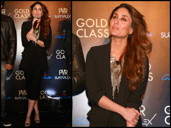 Kareena in black suit