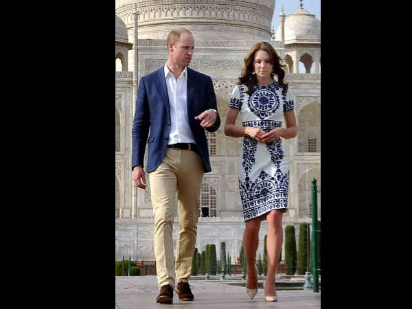 Kate Middleton In Naeem Khan