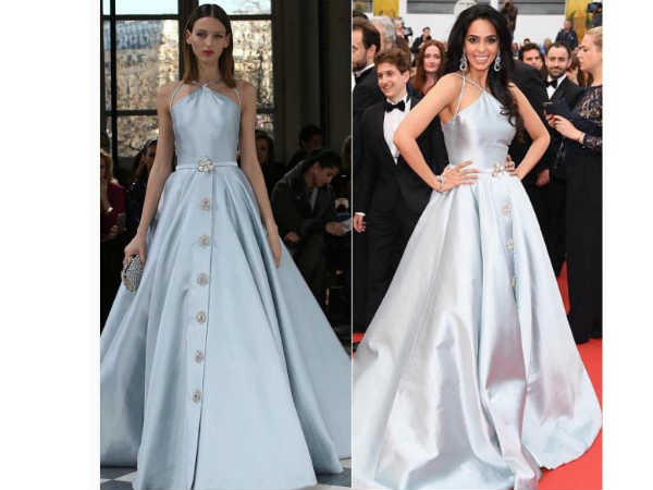 Cannes: Mallika's 2nd Red Carpet Glam1