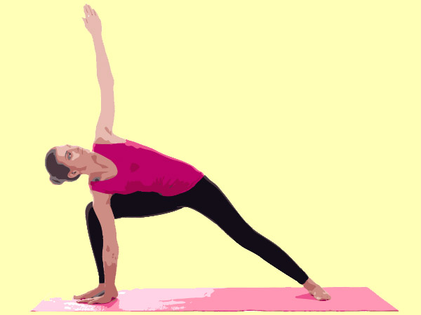 extended side angle pose for weight loss