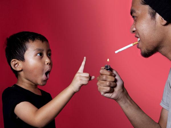 Indoor Smoking Affects Your Kids Health - Boldsky.com