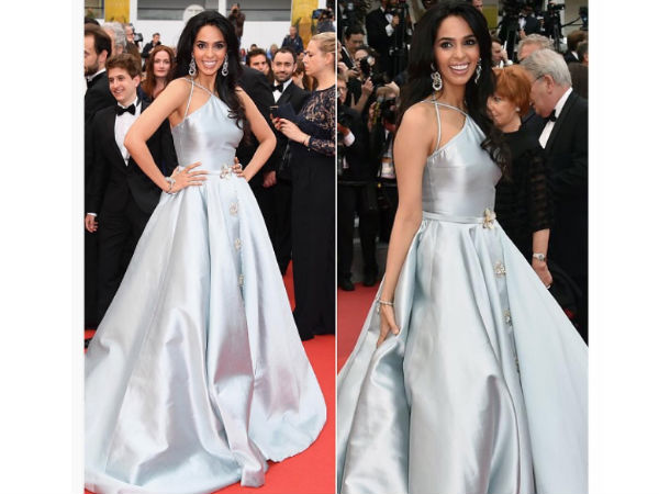 Cannes: Mallika's 2nd Red Carpet Glam!4