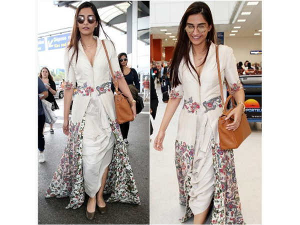 Sonam's Cannes Arrival Is High Fashion!