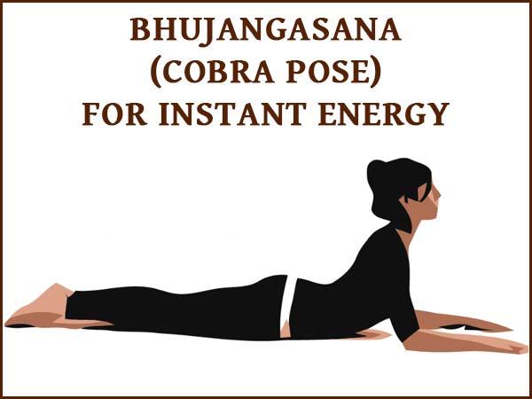 Bhujangasana Cobra Pose For Instant Energy