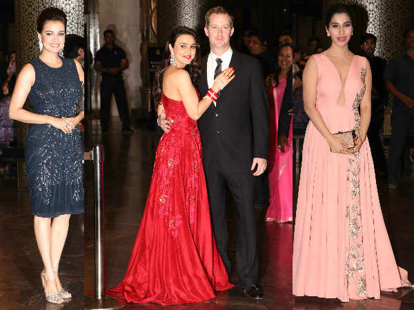preity zinta reception party