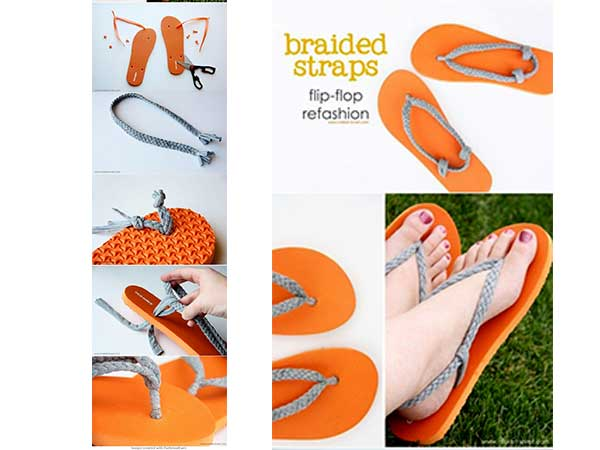 DIY Reuse Chappals
