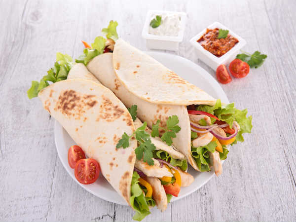 Quick And Tasty Chicken Wrap Recipe