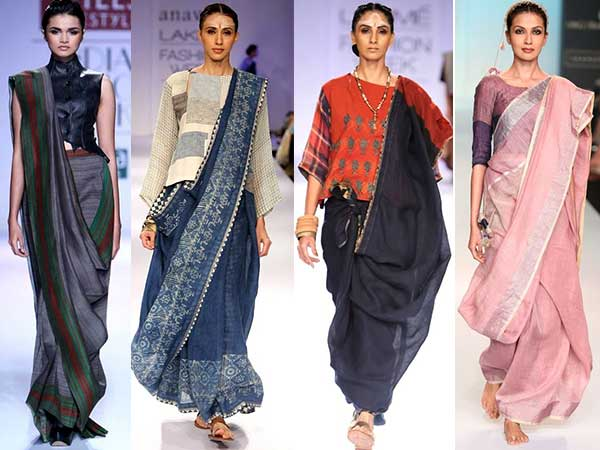 how to carry a saree