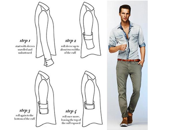 6 Awesome & Super Fun Ways To Roll Your Shirt Sleeves Up ...