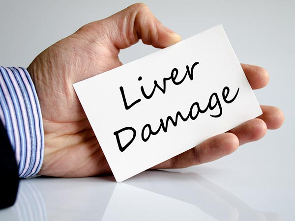 liver damage signs and symptoms