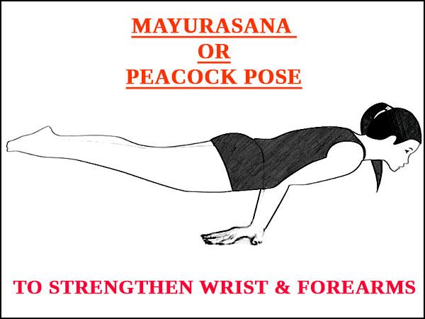 Mayurasana Peacock Pose To Strengthen Wrist And Forearms
