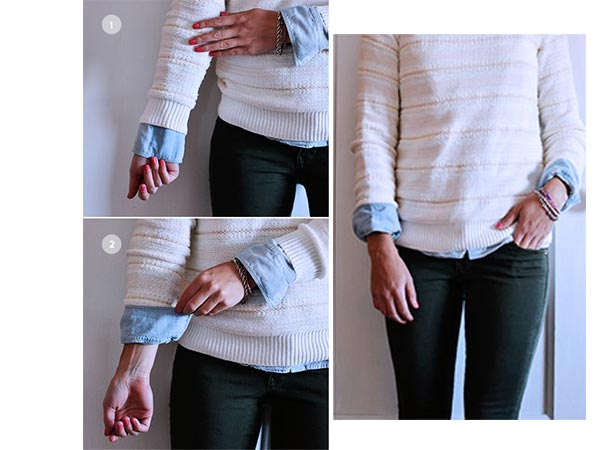 how to fold sleeves up