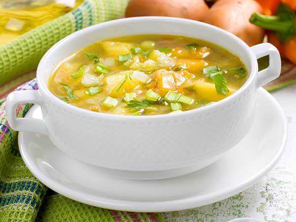 Diet Soup Recipe Vegetable Pepper Lemon Soup