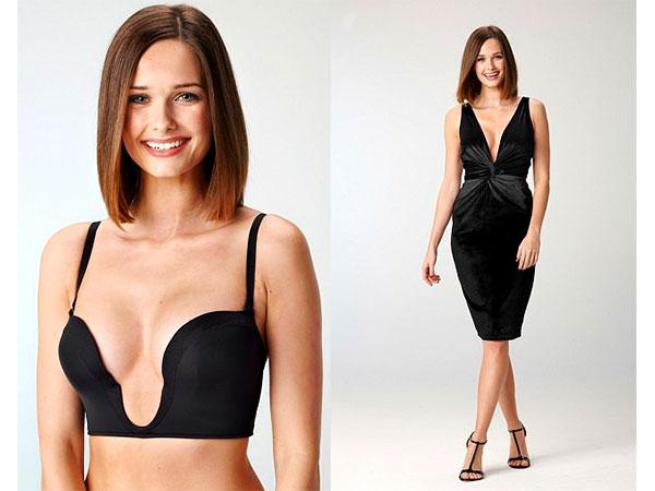 How to wear bra with deep v dress