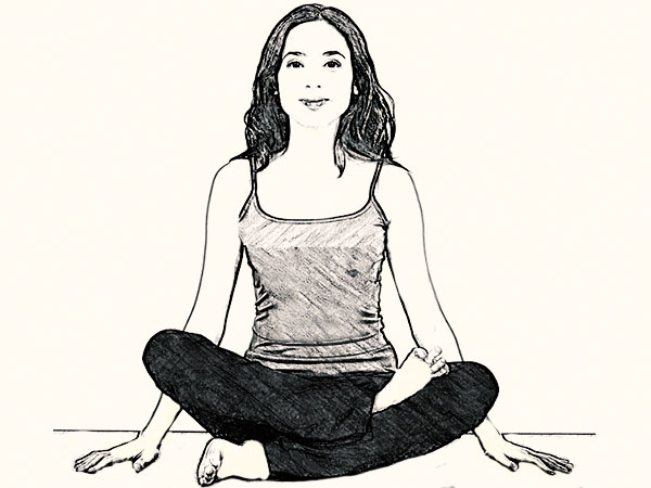 Agnistambasana (Fire Log Pose) To Stimulate Abdominal Organs