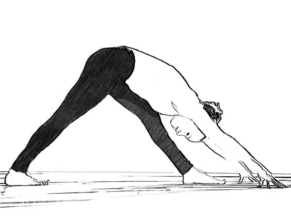 Parsvottanasana (Intense Side Stretch Pose) To Stimulate Reproductive Organs
