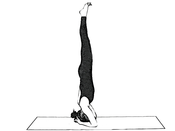 Salamba Sirsasana (Supported Headstand) For Toning Abdominal Organs