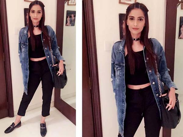 Sonam Kapoor The Fashionista Wowed Us With Her All Black Outfit At