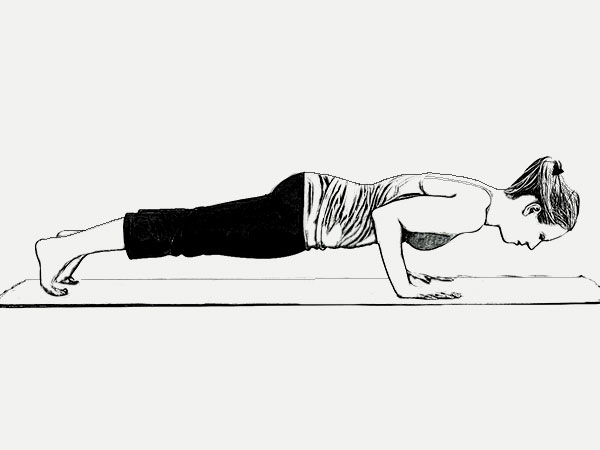 Chaturanga Dandasana (Four Limbed Staff Pose) To Strengthen The Muscles