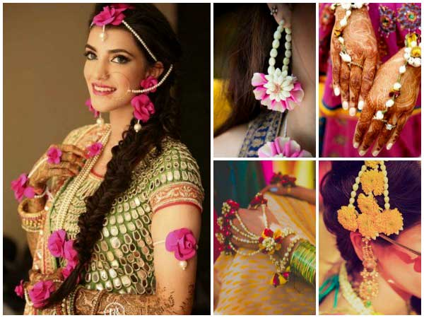 Flower Designer Wedding Mehndi Jewellery : Bridal fashion alert check out latest floral jewellery