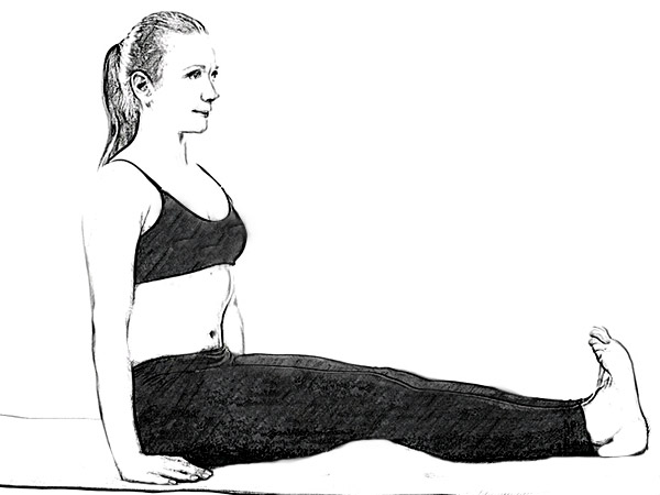 Paschimottanasana (Seated Forward Bend Pose) To Strengthen Lower Back