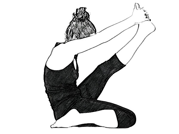 Krounchasana (Heron Pose) To Stimulate The Heart