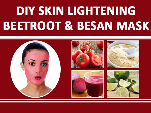 DIY Skin Lightening Beetroot & Besan Mask