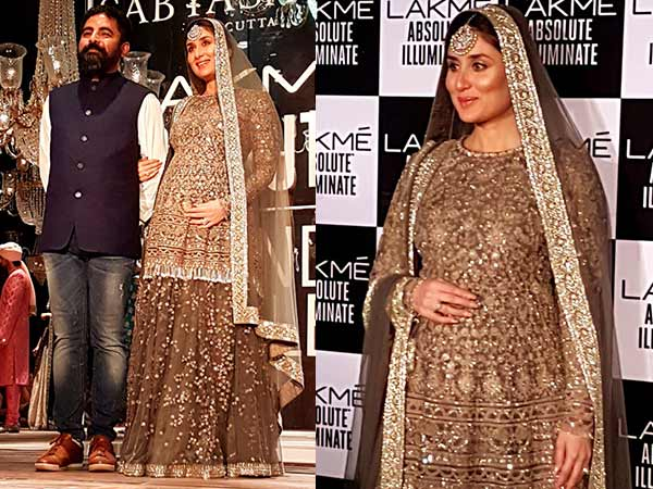 Grand Finale: Mommy-to-be Kareena Kapoor Walks For Designer Sabyasachi @ Lakme Fashion Week W/F 2016