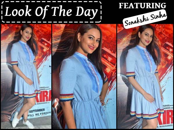 Look Of the Day: Sonakshi Sinha Looks Like A Schoolgirl For Akira Promotions