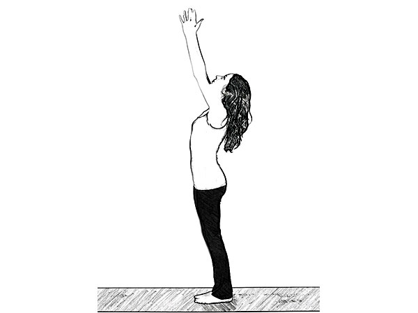 Urdhva Hastasana (Upward Salute Pose) To Relieve Stress