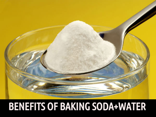 drinking water and baking soda
