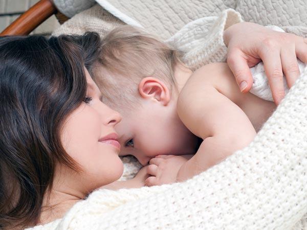 Teen lesbian breastfeeding mother